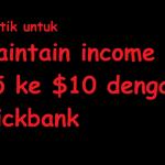 PERCUMA : Maintain Income $5 ke $10 dengan Clickbank